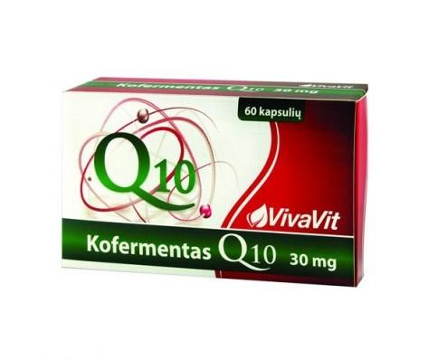 Kofermentas Q10 VIVAVIT, 30mg, 60kaps.