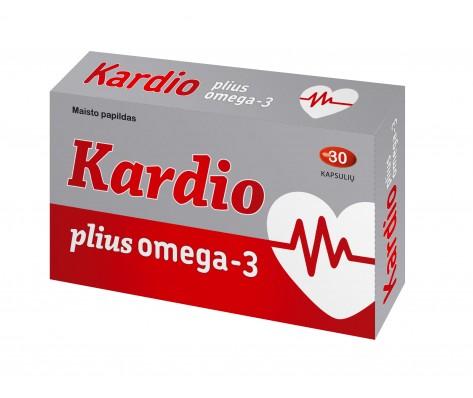 KARDIO PLIUS OMEGA-3 ,30 kapsulių