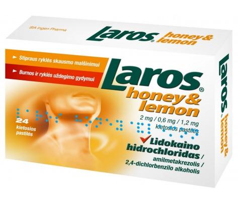 LAROS HONEY&LEMON kietosios pastiles N24