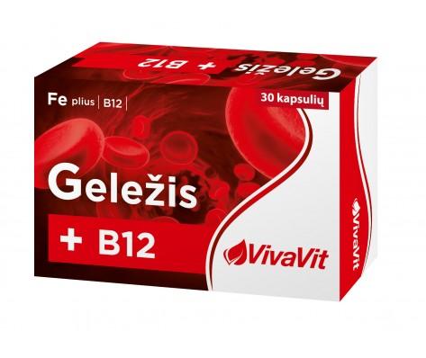 GELEZIS PLUS B12 VIVAVIT ,30 kapsulių