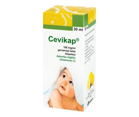 Geriamieji lašai/tirpalas CEVIKAP 100 mg/ml, 30 ml,1vnt