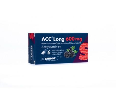 ACC LONG 600mg, šnypščiosios tabletės,6 tabl.