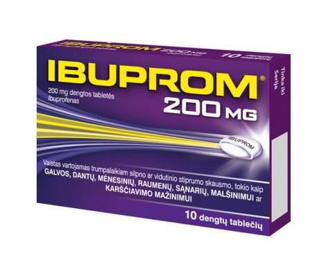 IBUPROM 200 mg, dengtos 10 tabl.