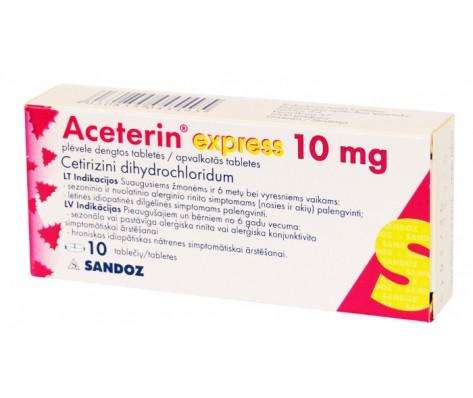 ACETERIN EXPRESS 10 mg, plėvele dengtos 10 tab.