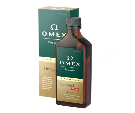 Skysti žuvų taukai OMEX PREMIUM Omega 3, 200ml
