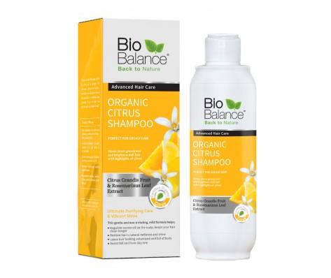 Ekologiškas šampūnas BIO BALANCE su citrusiniais vaisiais besiriebaluojantiems plaukams, 330 ml