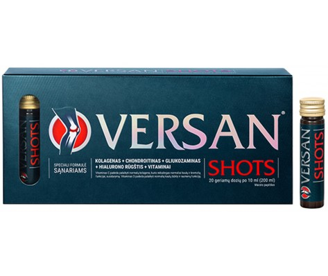 VERSAN Shots, 20 geriamųjų dozių sąnariams