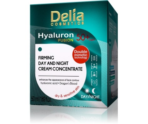 50+,Raukšles užpildantis kremas koncentratas Cosmetics Hyaluron Fusion ,50ml