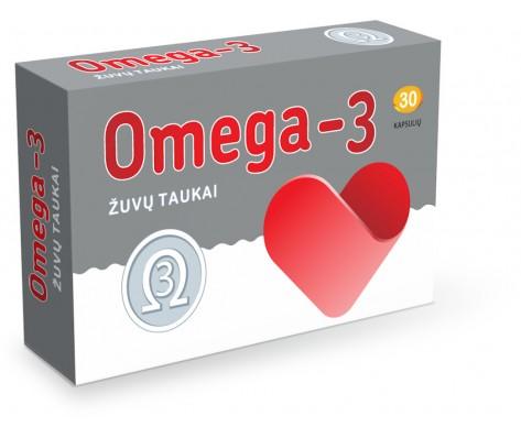 Maisto papildas Žuvų taukai OMEGA 3, 30 kaps.
